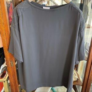 Brunello Cuccinelli Silk Short Sleeve Blouse